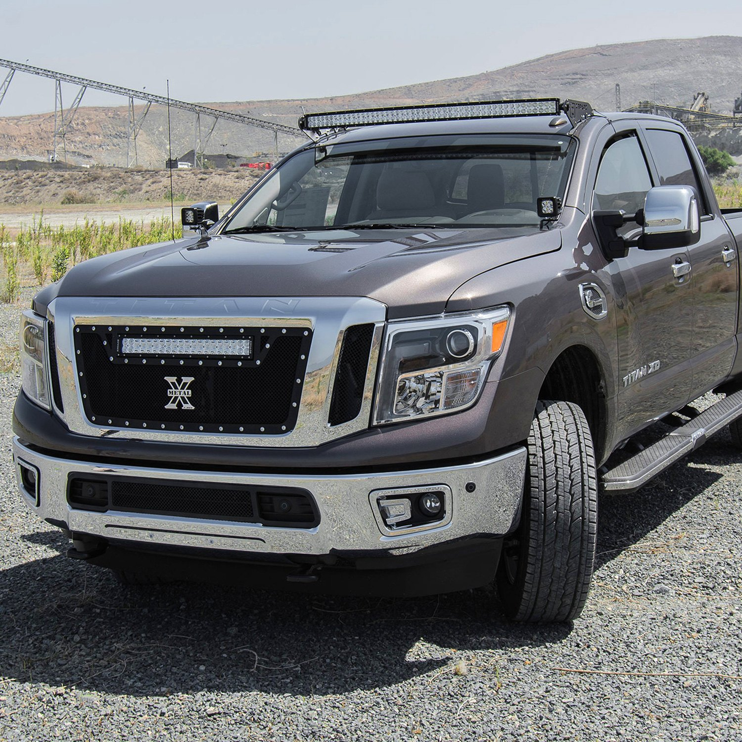 Nissan Titan XD 2016 Roof Mounted Curved LED