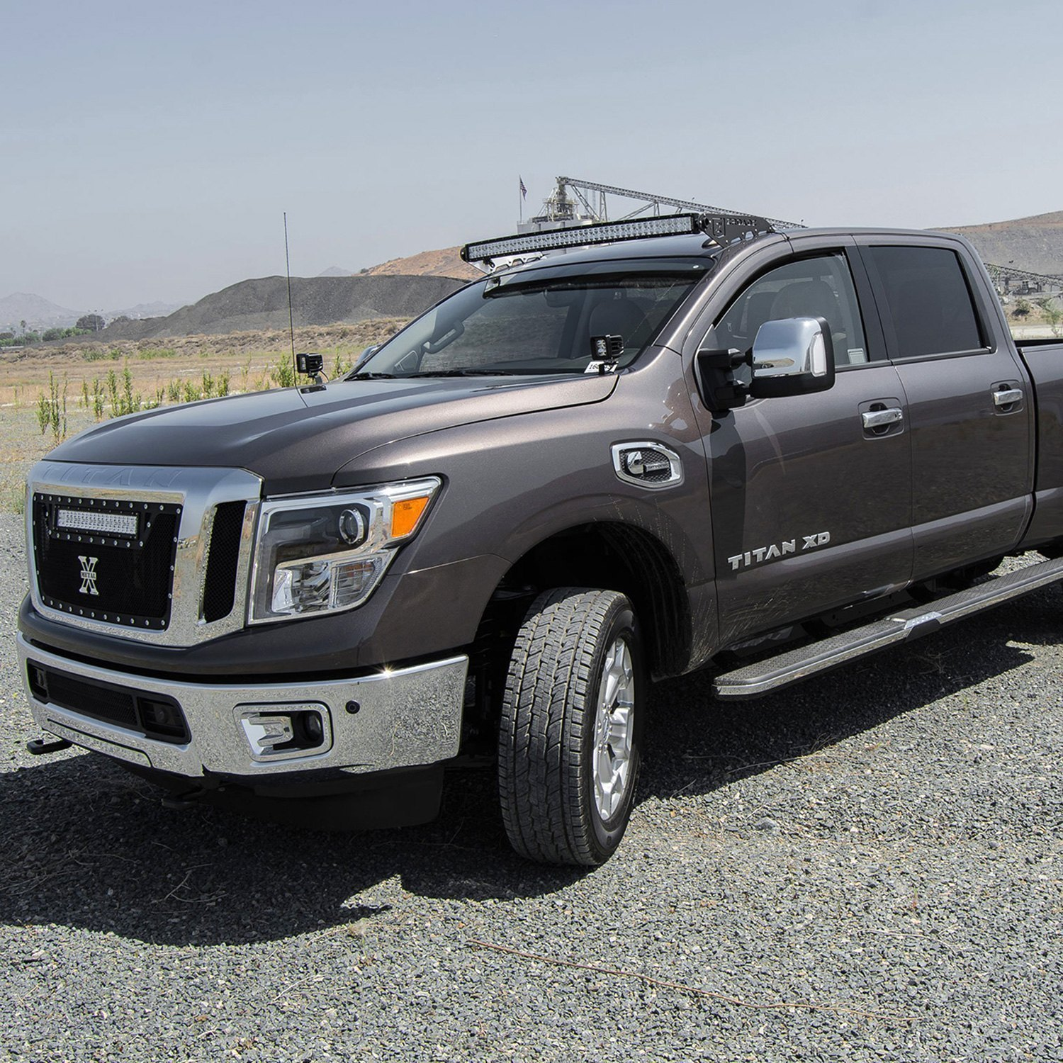 Zroadz nissan titan xd 2016 2017 roof mounted 50 288w curved roof curved dual row led light bar audiocablefo