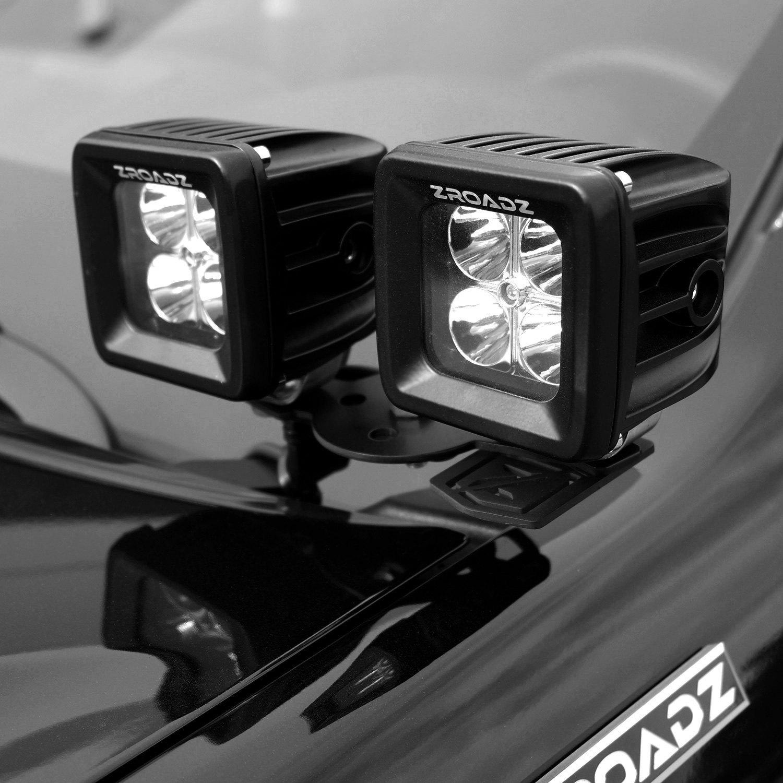 hood hinge 3 20w combo beam led pod lights