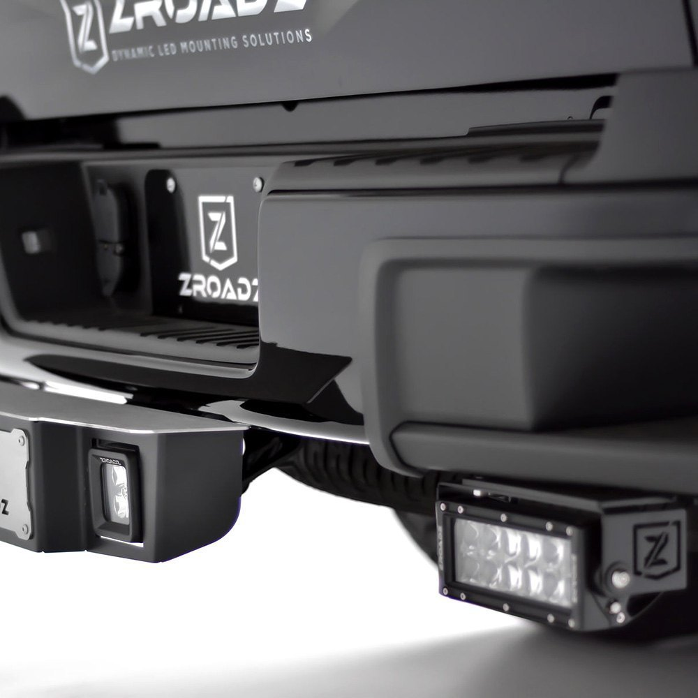 Zroadz z382671 kit rear bumper mounted 6 2x36w dual row combo rear bumper dual row led light bars mozeypictures Image collections