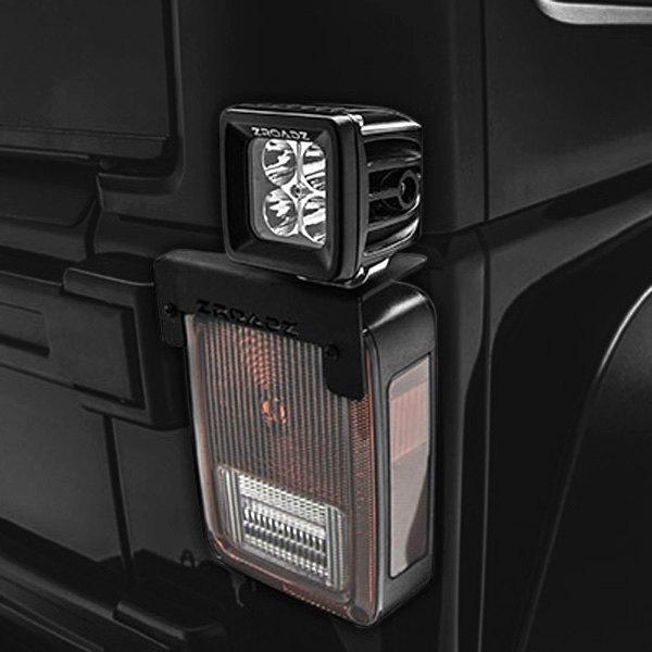 For Jeep Wrangler Jk 18 Zroadz Tail Light Mounts For Two 3