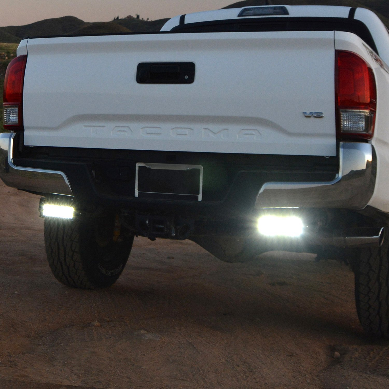 Zroadz toyota tacoma 2016 2018 rear bumper mounts for two 6 led rear bumper mounts for two 6 led light barszroadz aloadofball Images