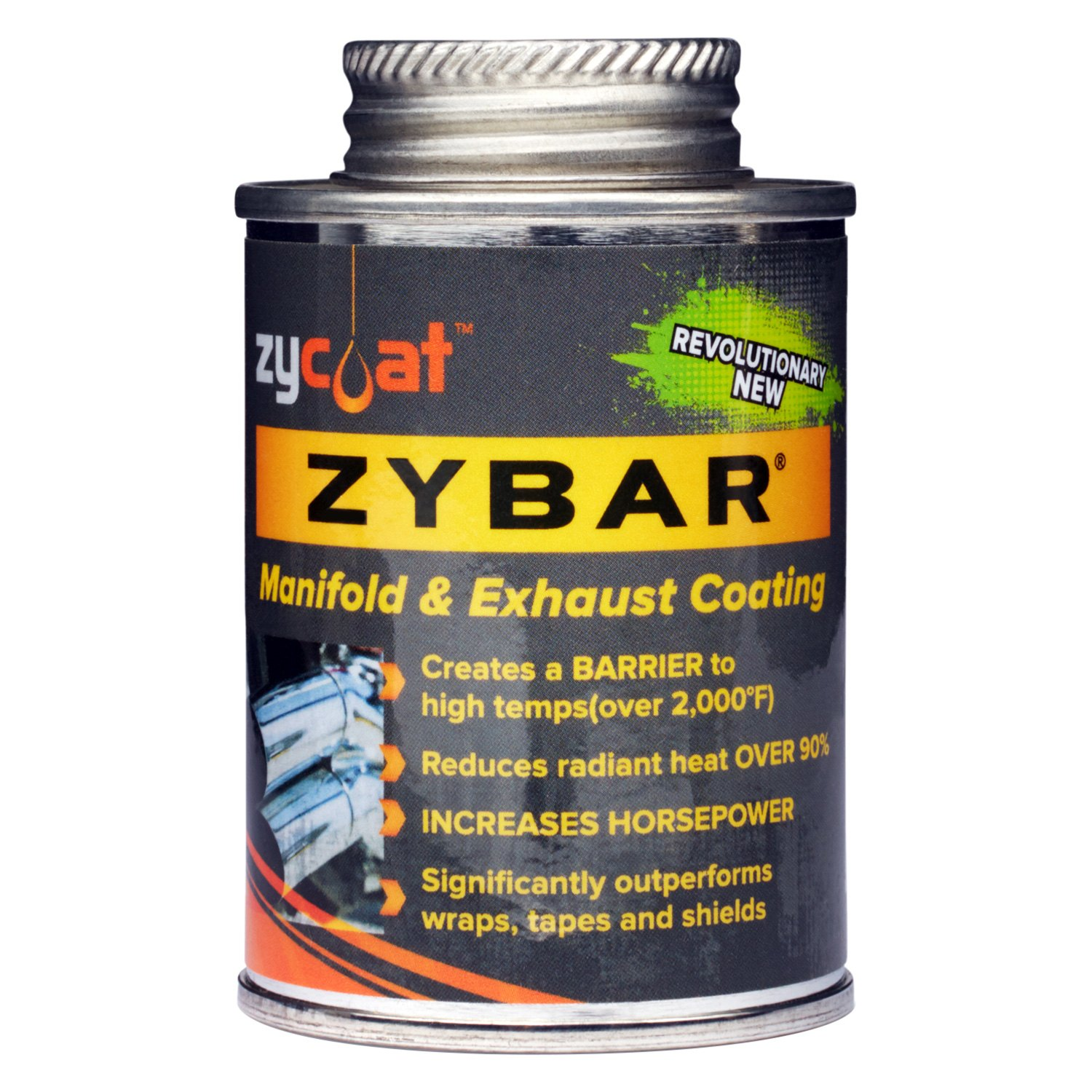 ZyCoat® 10004 - ZyBar™ 4 oz  Bronze Satin Manifold and Exhaust Spray-On  High Temperature Paint