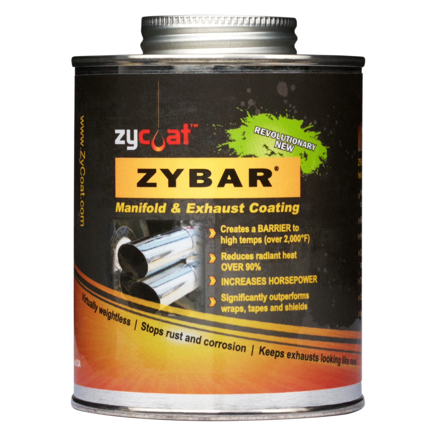 ZyCoat® 10016 - ZyBar™ 16 oz  Bronze Satin Manifold and Exhaust Spray-On  High Temperature Paint